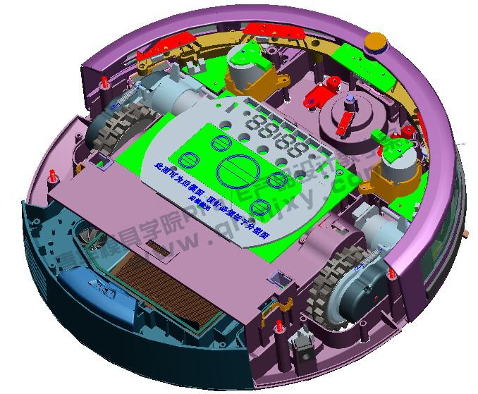 羅技鼠標結構設計實例(鼠標按鍵設計,主體美工線細節設計,電路板緊固